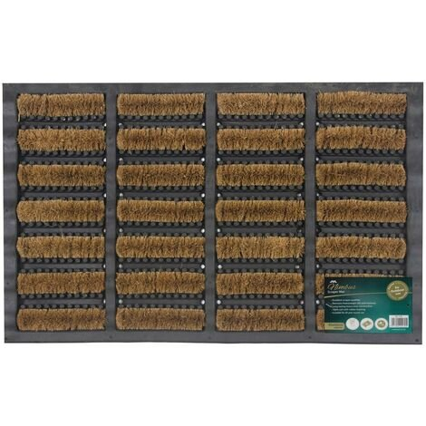 JVL Heavy Duty Nimbus Rubber Natural Coir Tuffscrape Door Mat, 40 x 60 cm