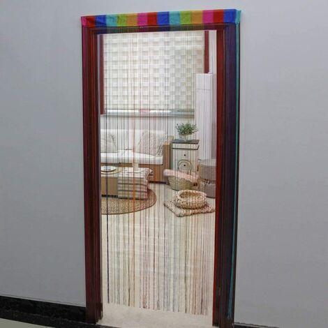 JVL Rainbow String Door Curtain ,200cm x 90cm approx