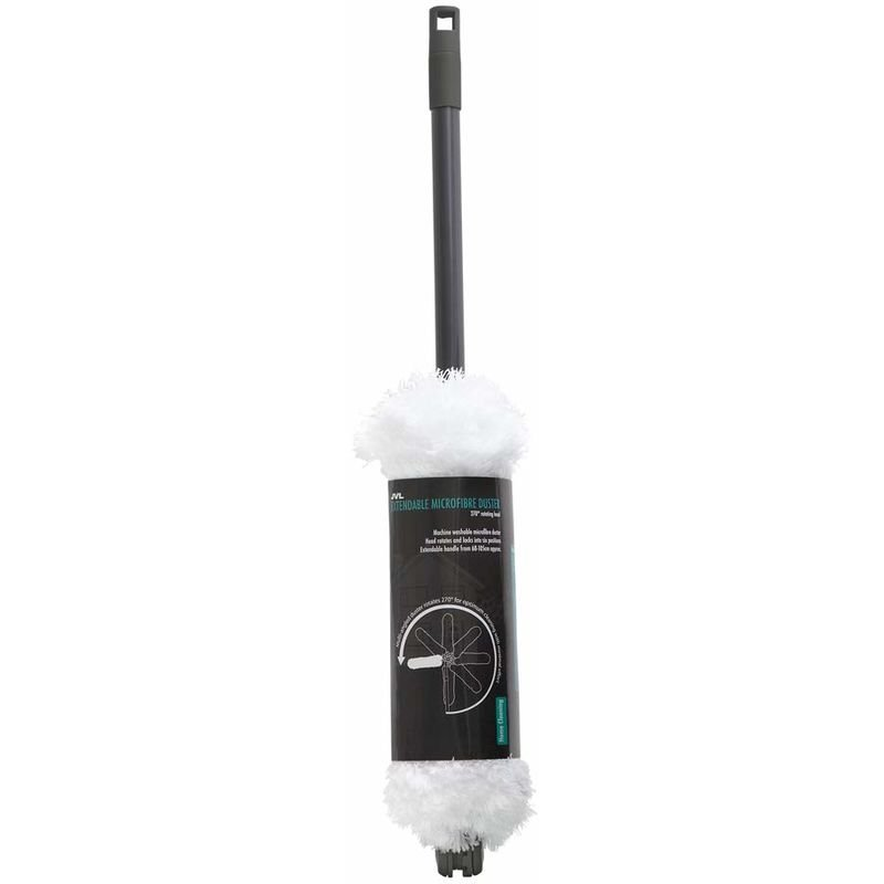 Image of JVL Super-Absorbent Extendable Microfibre Multi-Angle Duster, Grey