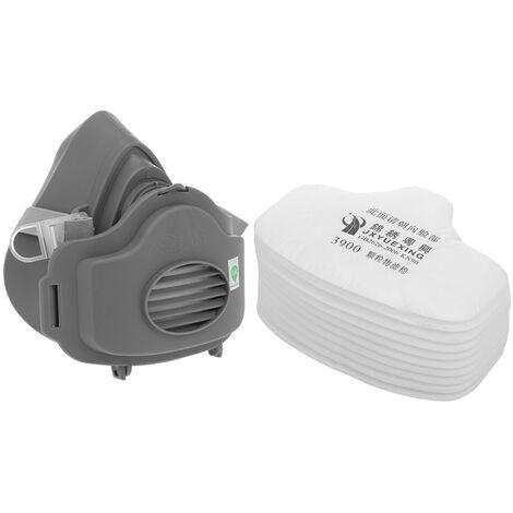 """main image of """"JXYUEXING Anti-poussiere respirateur filtre masque a gaz ensemble chimique Anti-poussiere masques peinture industrielle pulverisation masque de protection securite au travail"""""""