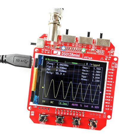 JYE Tech, DSO138 Mini osciloscopio digital de DIY Kit, 1MSa / s 0-200KHz