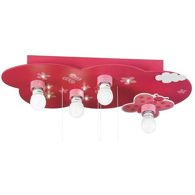 Plafoniere In Legno Per Bagno : K fantasia pl plafoniera rosa farfalle legno lampada per cameretta
