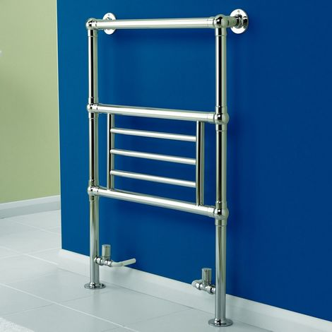 K-Rad Houston Floor Standing Traditional Heated Towel Rail 945mm x 675mm