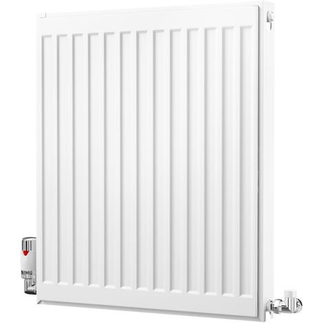 K-Rad Kompact Type 21 Double Panel Single Convector Radiator 600mm x 500mm White