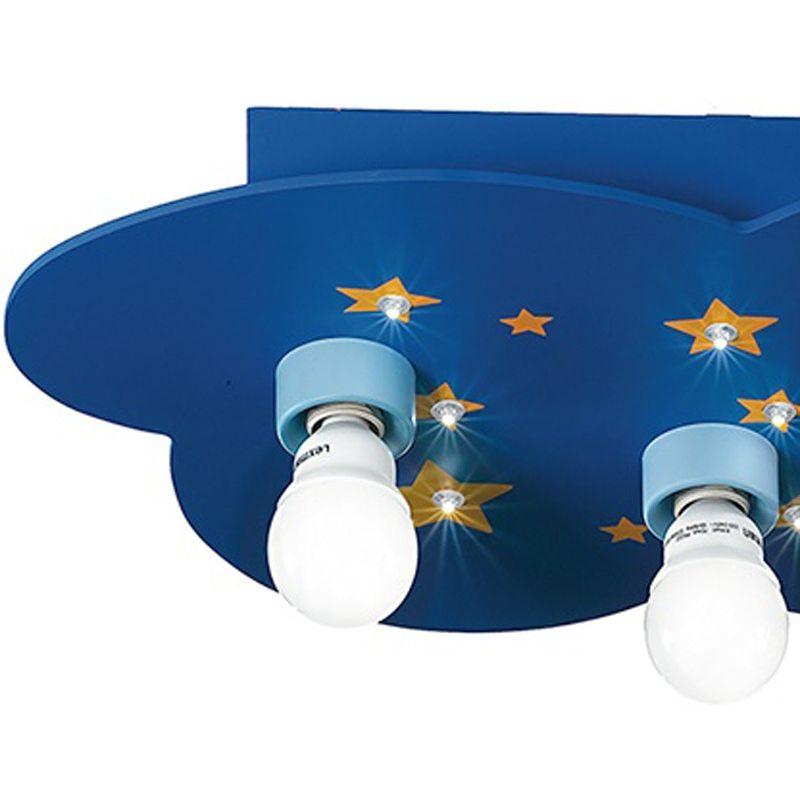 Plafoniere Per Tettoie In Legno : K stellina pl plafoniera legno blu luna stelle lampada per