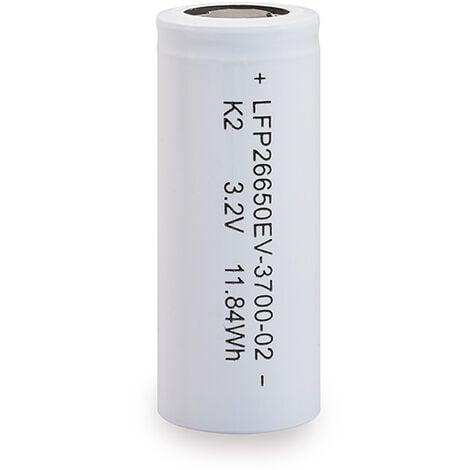 K2 Energy - Accus Lithium Fer Phosphate K2 ENERGY IFR26650 LiFePO4 3.2V 3.7Ah