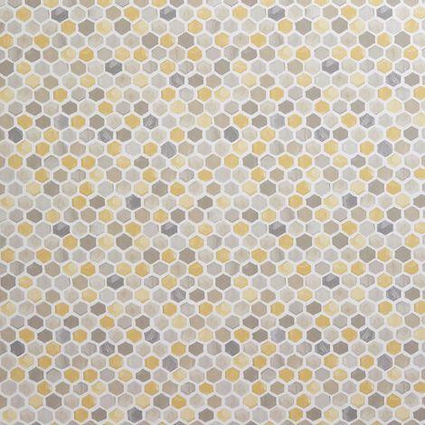 Wallpaper hexagon white beehive yellow honeycomb #ffd700 # ... |Yellow Honeycomb Wallpaper