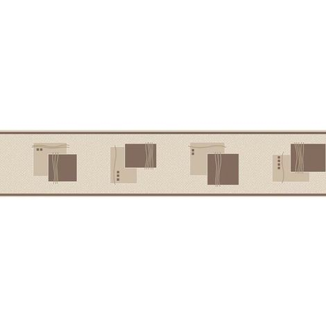 K2 Squares Chocolate Wallpaper Border
