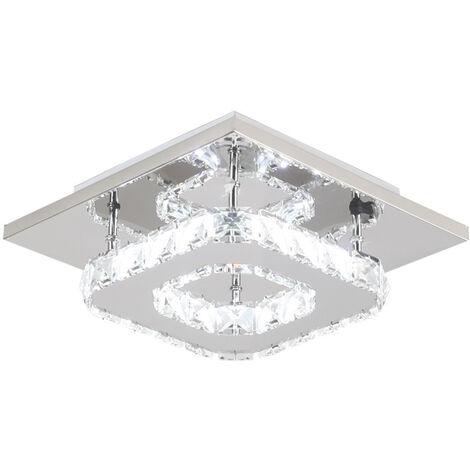 K9 Crystal Chandelier Clear Glass Ceiling Lamp Led Modern Ceiling Light for Living Room Bedroom Kitchen Living Room Office Cool White