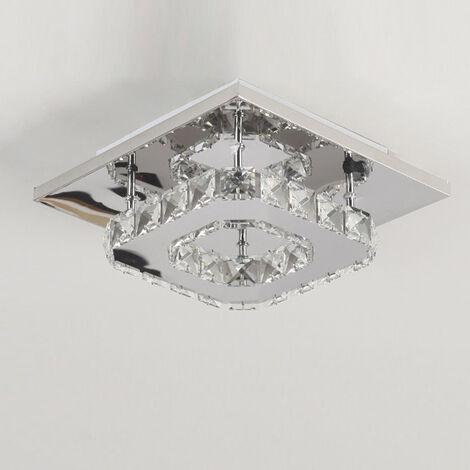 K9 Crystal Chandelier Modern Ceiling Light Clear Glass Ceiling Lamp Led Cool White