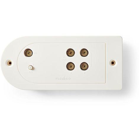 Kabel-TV Verstärker, CATV, BK-Verstärker, Kabelverstärker, 4 Ausgänge, max. 20dB Verstärkung, 40-862 MHz