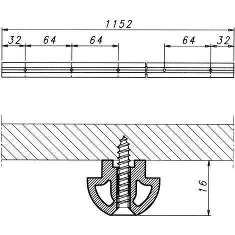 Stahl silber Ersatzzugfeder PSM 1128 164 x 18 x 3 mm