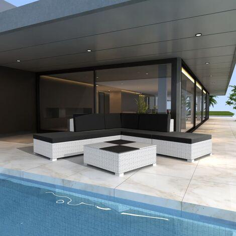 Kadar 6 Seater Rattan Corner Sofa Set by Ivy Bronx - White