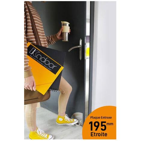 Kadoor - Pack complet MK2 195 Ouvre porte au pied : Kit MK2 plaques étroites 195 + Plaques de propreté + Béquille antidérapante