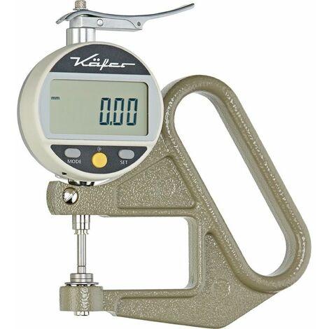 Käfer Dickenmessgerät JD 50 0-10mm Abl. 0,01mm dig. fl. 10=cmm
