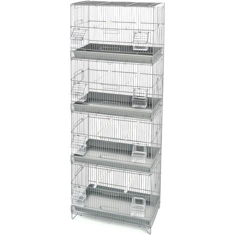 Käfig bestehend aus 4 kompletten Käfigen für Vögel