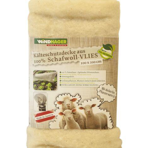 Kälteschutz Vlies aus Schafwolle 2x1m