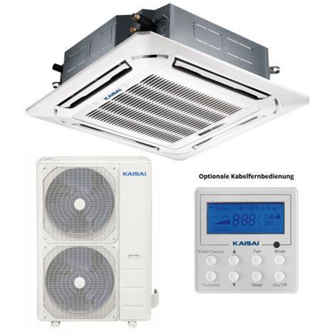 KAISAI Split-Klimaanlage 13,8 kW R32 Super-Slim Deckenkassette SET