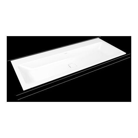 Kaldewei Cono lavabo à encastrer 3082, 1200x500x14 mm, Exécution: avec 2x 3 taraudages - 901806053001