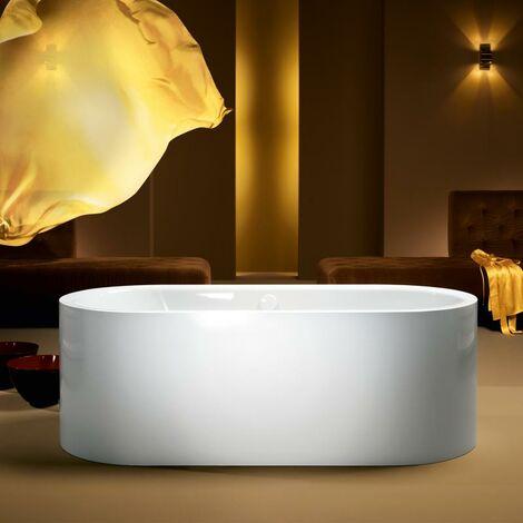 Kaldewei Meisterstück Centro Duo Oval, baignoire sur pieds 1128, 180x80x47 cm, blanc alpin, Exécution: Kit de trop-plein et de trop-plein 4040 - 200240403001