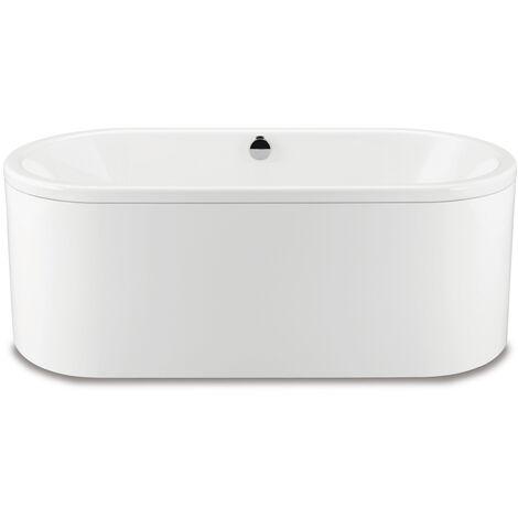 Kaldewei Meisterstück Classic Duo Oval, baignoire sur pieds 113-7, 170x75x42 cm, avec tablier Couleur extérieure blanc alpin, Coloris: blanc mat - 291449230711