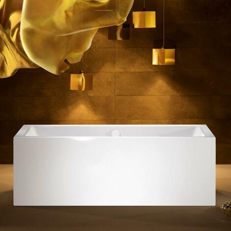 Kaldewei Meisterstück Conoduo, bañera independiente, 1733, 180x80x43 cm, blanco alpino, cumplimiento: Racor de desagüe y rebose con función de llenado integrada 4081 - 200740813001