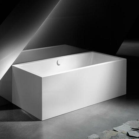 Kaldewei Meisterstück Conoduo, montaje en pared frontal (3 lados) 1723, 180x80x43 cm, blanco alpino, cumplimiento: Kit de desagüe y rebose 4080 - 201940803001