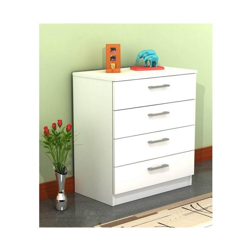 Kale Kommode - Nachttisch-Kommode - mit Schubladen - vom Wohnzimmer, Studio - Weiss aus Holz, PVC, 70 x 42 x 79 cm