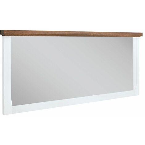 KALISTO - Miroir suspendu style scandinave salon/chambre à coucher - 140x60.5x6.5 - Cadre décoratif - Miroir mural - Blanc