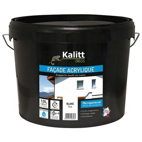 "main image of ""KALITT.FACADE ACRYL. BLANC 10L"""