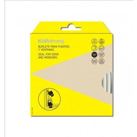 "Kallstrong Burlete Puerta Y Ventana Tipo ""D"". Adhesivo 9 X 5,5 Mm. X 6 M. B15003B"