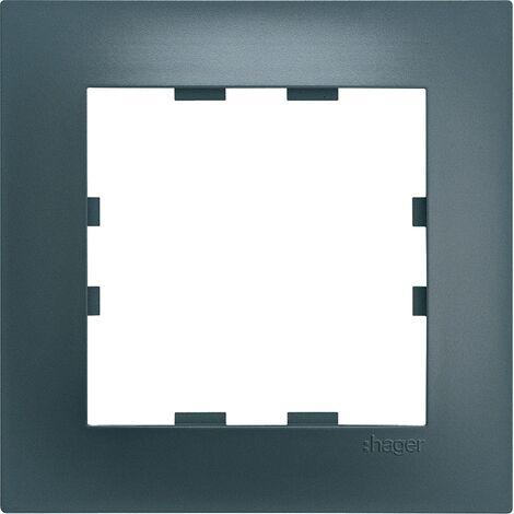 Kallysta pop plaque 3 postes verticale entraxe 71 coloris carbone