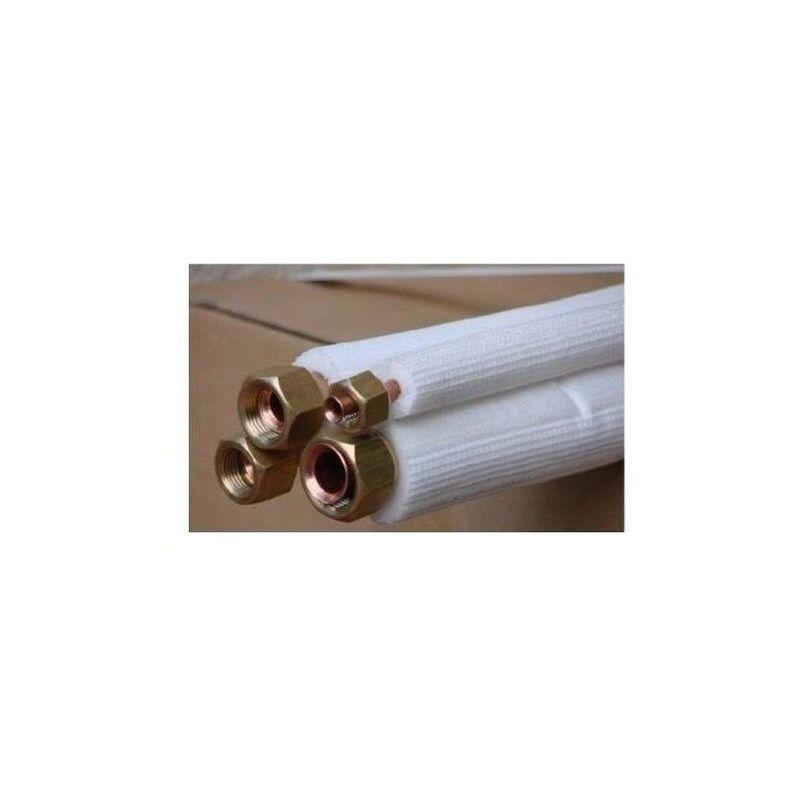 K/ältemittelleitung doppel 20m Split Klimaanlagen 1//4-1//2 Kupferrohr Isoliert Doppelrohr