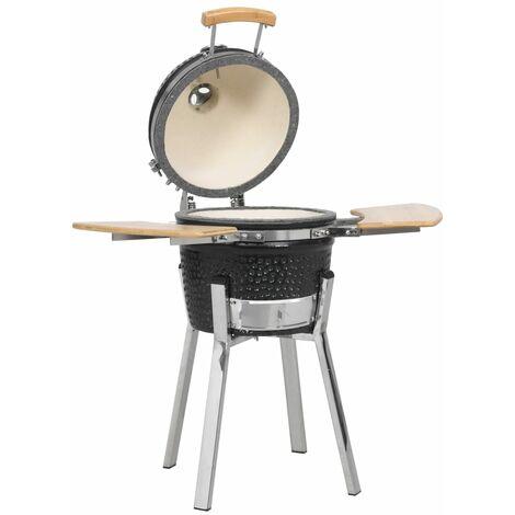 Kamado Barbecue Grill Smoker Ceramic 81 cm - Black