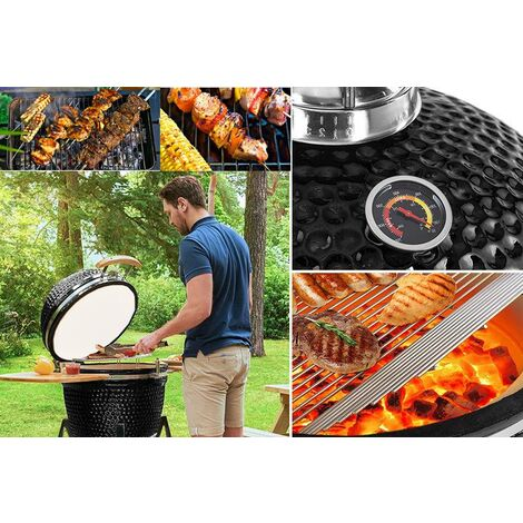"""main image of """"KAMADO SMOKER BBQ CHARCOAL BARBECUE GRILL OUTDOOR GARDEN COOKING EGG COOKER OVEN"""""""