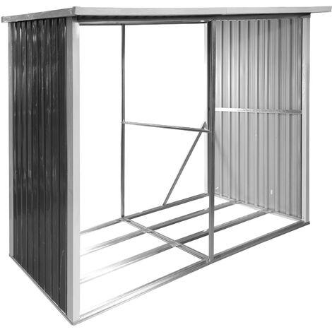 Kaminholzregal Brennholz Stapelhilfe Holzlager überdacht 303x120x190 Stockholm