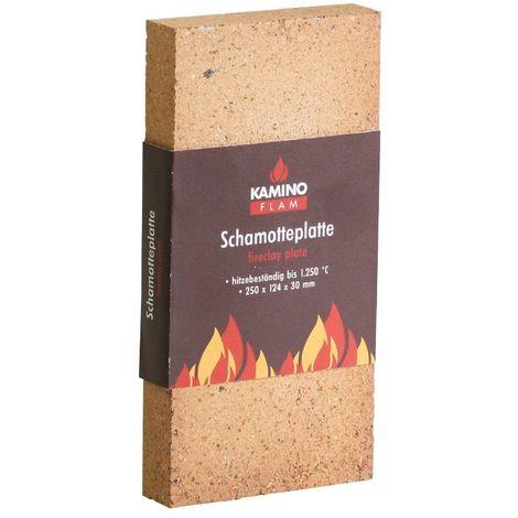 Kamino-Flam 333302 Piastra Refrattaria Camino, Marrone, 250 x 124 x 30 mm
