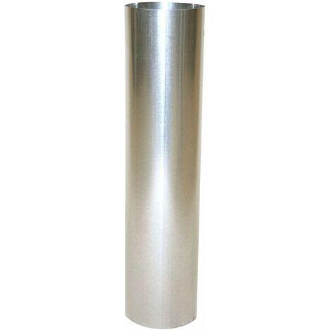 Kamino - Flam Tuyau de Poêle en Acier Aluminié Ø 150 mm Longueur 500 mm, Tube Droit pour Conduit de Fumée Testé EN-1856-2, Tuyau de Raccordement au Conduit de Cheminée