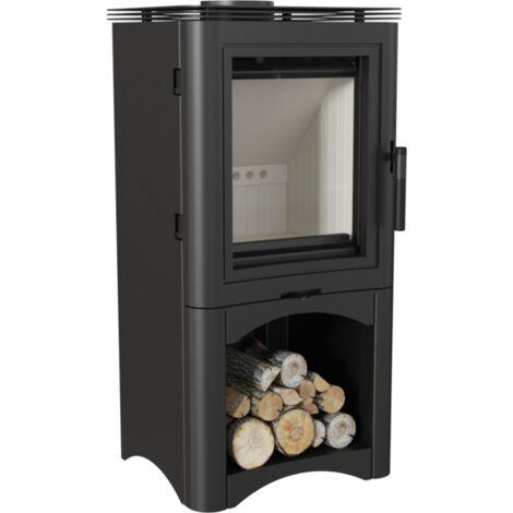 Kaminofen Kratki KOZA K5 S Kamin Ofen 7 kW Holzscheitofen Holzofen DN130 mm mit Holzfach