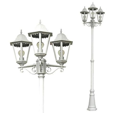 Kandelaber Gartenlampe Norderney Weiss-M103172
