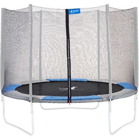 Kangui - Filet de sécurité et protection Ø 430cm trampoline RALLI - Noir