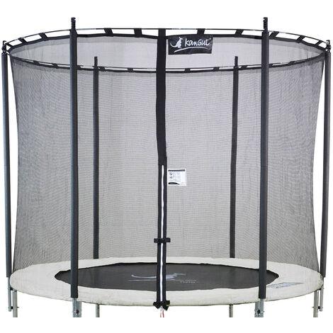Kangui - Filet de sécurité et protection Ø 244cm trampoline rond - Noir