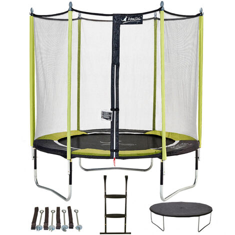 Kangui - Trampoline JUMPI POP + Filet + Échelle + Bâche de protection + Kit d'ancrage