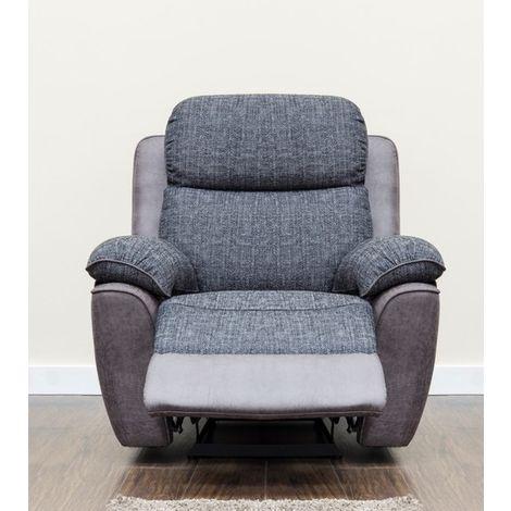 Kansas Armchair Reclining Fabric Sofa Slate