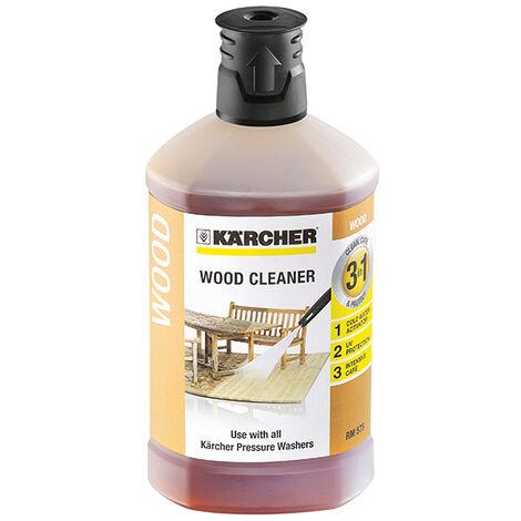 Karcher 3-In-1 Plug & Clean Wood Cleaner Detergent 1 Litre