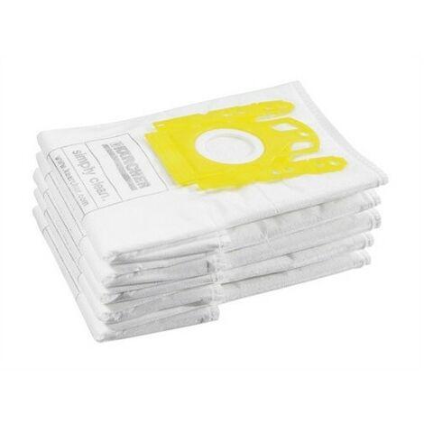 Karcher 6.904.329.0 VC Fleece Vacuum Bags Pack of 5