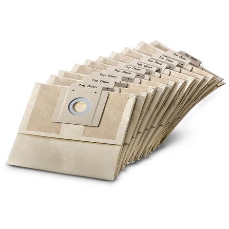Karcher - Lot de 10 sacs papiers pour aspirateurs BV5/1 - 69044030