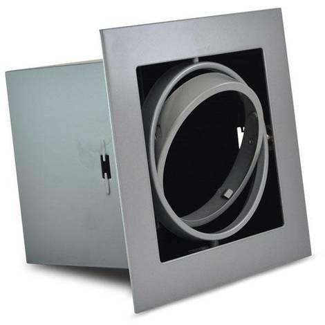 Kardan de acero para bombilla QR111 LED | Gris