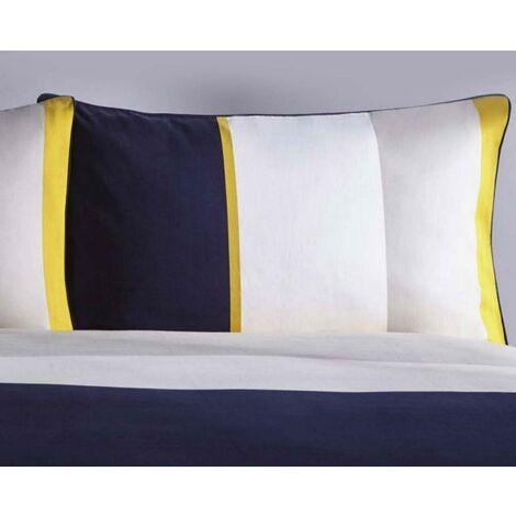 Karen Millen Colour Block Housewife Pillowcase Pair Midnight