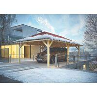 Karibu Pavillon Carport Kirn 2, ohne Imprägnierung